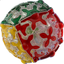 Gear Ball - Clear Body with embedded tiles -