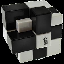 Gray Mirror Illusion Siamese II (B&W Checker, White Center) -