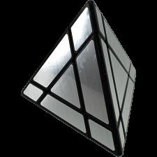7-Segment Pyraminx - Black Body in Silver Label -