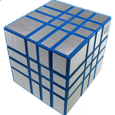 Mirror 4x4x4 Cube - Blue Body with Silver Label (Lee Mod) -