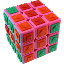 Gray Matter 3x3x3 Bastinazo Cube with Tiles - Advance -