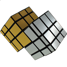 Mirror Double Cube - Black body (Gold and Silver Stickers) -