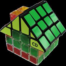 4x4x4 Glassy House Cube I - Black Body Roof -