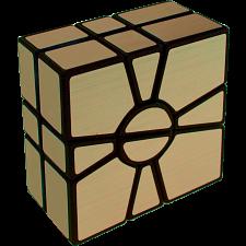 Mirror 2-Layer Super Square 1 - Black Body with Gold Label -