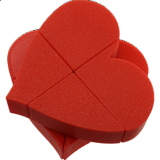 Ghost 2x2x2 Heart Puzzle - Red Body (3D printing Mod) -