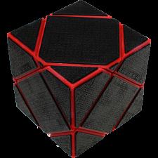 Mirror Skewb - Red Body with Black Tiles (Lee Mod) -