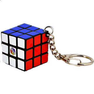 Rubik's Cube (3x3) Key Ring