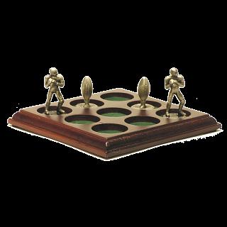 Football Tic Tac Toe w/ wood base