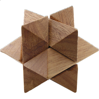 Puzzle Solution for Star - Wood
