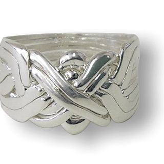 Puzzle Solution for 8 Band - Sterling Silver Puzzle Ring