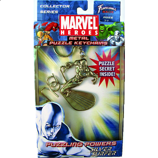 Marvel Heroes - Metal Puzzle Keychains - Silver Surfer