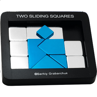 Puzzle Solution for Two Sliding Squares