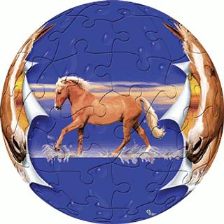 Horse - Boy: 3 inch