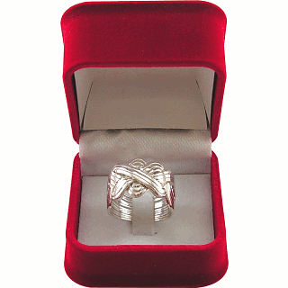 12 Band - Sterling Silver Puzzle Ring