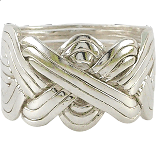 Puzzle Solution for 12 Band - Sterling Silver Puzzle Ring