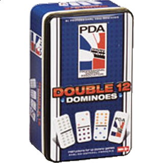 PDA Double 12 Dominoes Tin