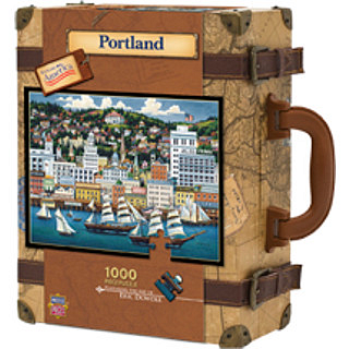 Collector Suitcase Jigsaw - Portland