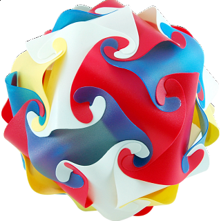 Puzzle Solution for Cyclone Puzzle - Multi Color
