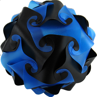 Puzzle Solution for Cyclone Puzzle - Blue and Black
