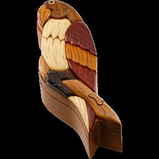 Wooden Puzzle Box - Parrot