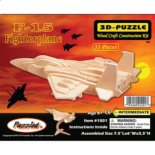 F-15 Fighterplane - 3D Wooden Puzzle