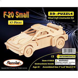 F-20 Car - Small - 3D Wooden Puzzle