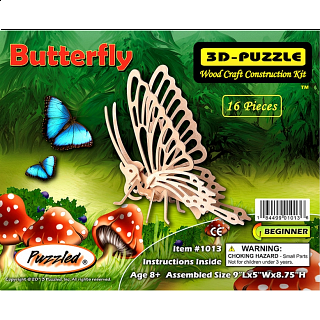 Little Butterfly - 3D Wooden Puzzle