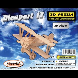 Nieuport 17 Biplane - 3D Wooden Puzzle