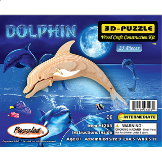 Bottle Nose Dolphin - 3D Wooden Puzzle