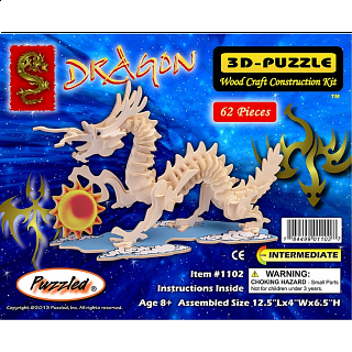 Dragon - Small - 3D Wooden Puzzle