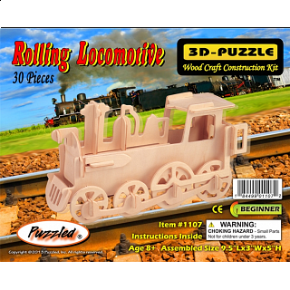 Rolling Locomotive - 3D Wooden Puzzle