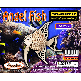 Angel Fish - 3D Wooden Puzzle