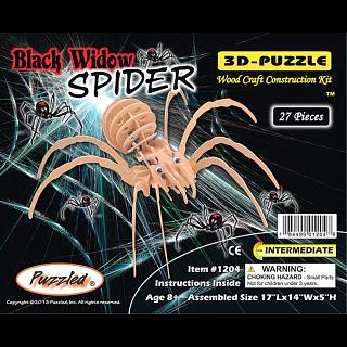 Black Widow Spider - 3D Wooden Puzzle