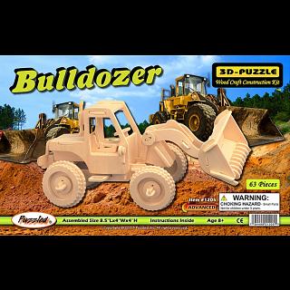 Bulldozer - 3D Wooden Puzzle