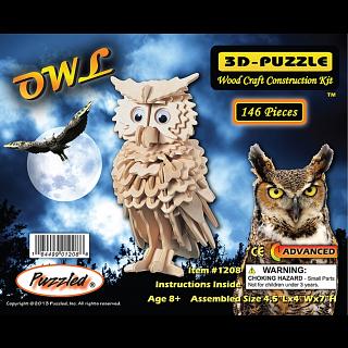 Owl - 3D Wooden Puzzle