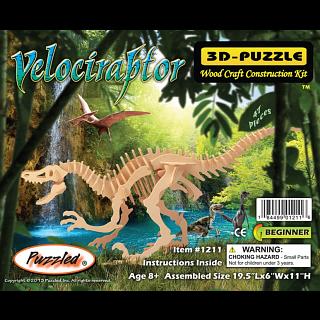 Velociraptor - 3D Wooden Puzzle