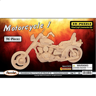 Motorcycle 1 - 3D Wooden Puzzle
