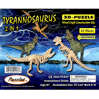 Tyrannosaurus 2 in 1 - 3D Wooden Puzzle