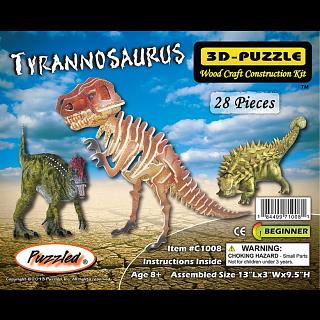 Tyrannosaurus - Illuminated 3D Wooden Puzzle