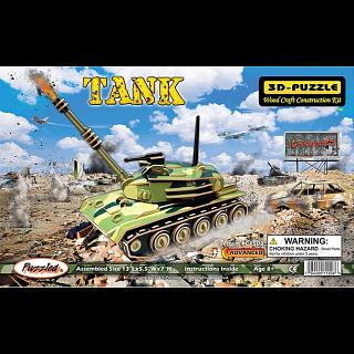 Tank - Illuminated 3D Wooden Puzzle
