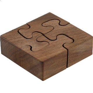 Puzzle Solution for Wooden Spiral - Wedge Key Puzzles