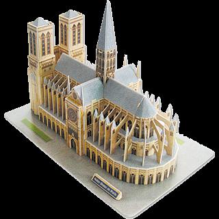 Notre-Dame de Paris - 3D Jigsaw Puzzle