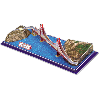 Golden Gate Bridge - 3D Jigsaw Puzzle