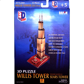 Willis Tower - Formerly known as Sears Tower - 3D Jigsaw Puzzle
