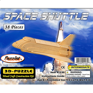 Space Shuttle - 3D Wooden Puzzle