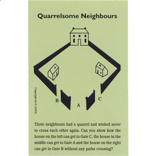 Quarrelsome Neighbours - Trade Card