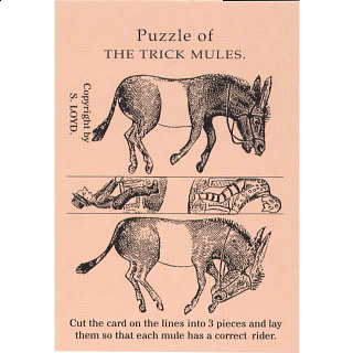 Puzzle Solution for Puzzle of the Trick Mules - Trade Card