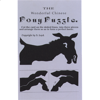 The Wonderful Chinese Pony Puzzle - Trade Card