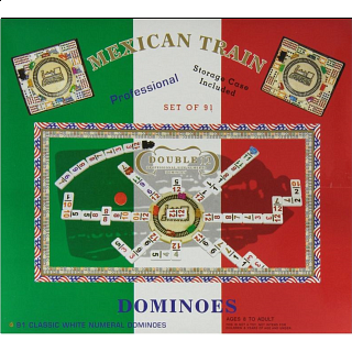 Professional Mexican Train Dominoes - Double 12 (NUMBERS)