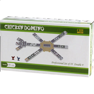 Chicken Domino Double 9 - Professional Set of 55
